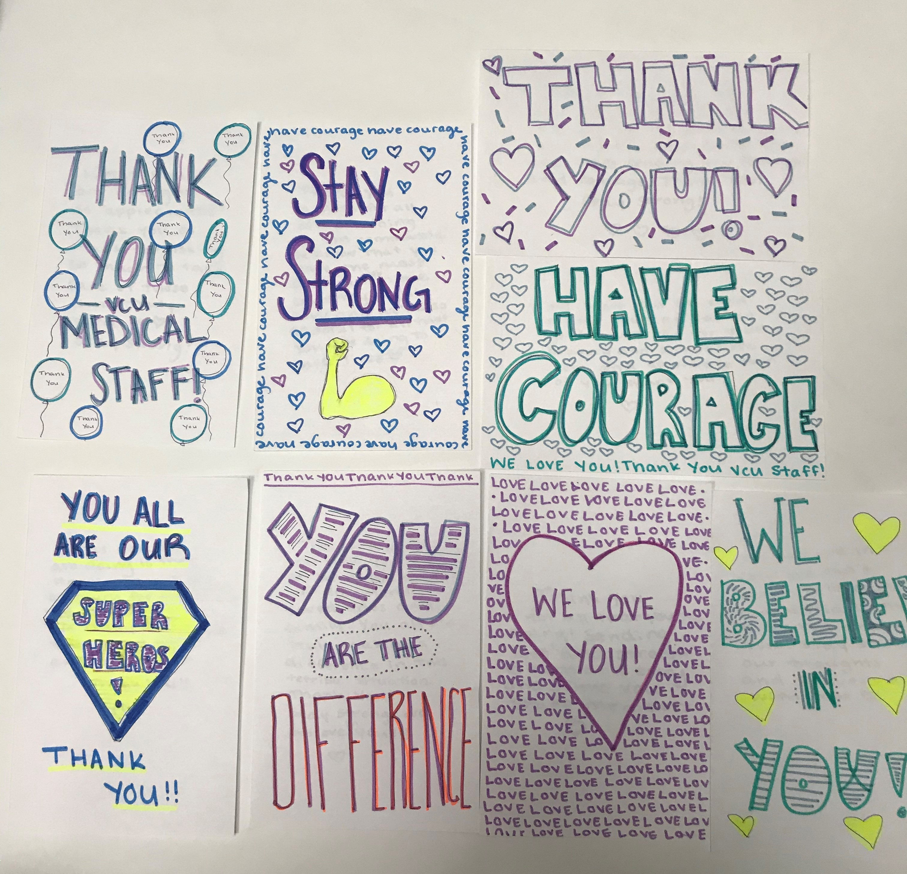 Thank you notes collage