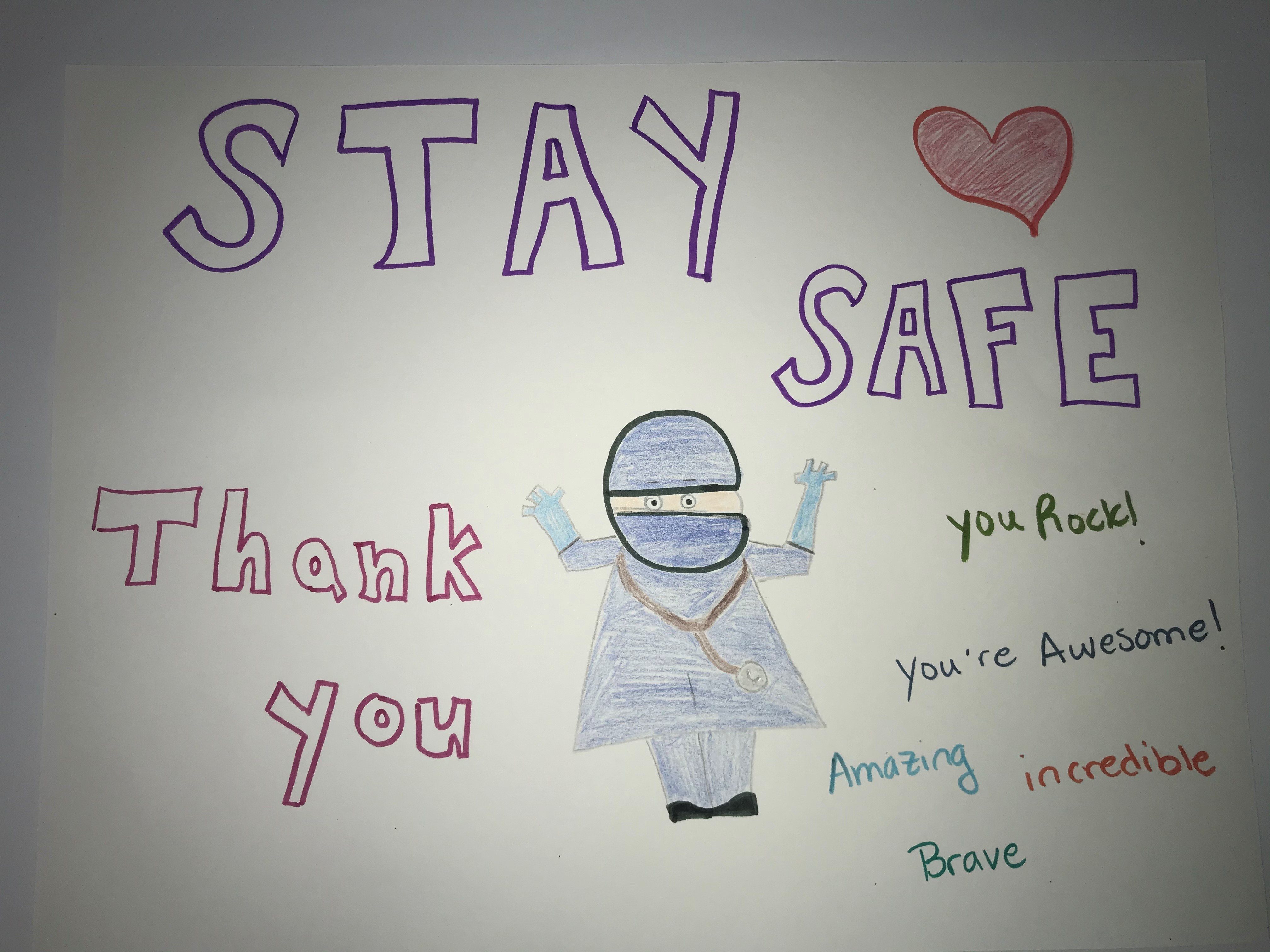 Stay safe! Thank you.