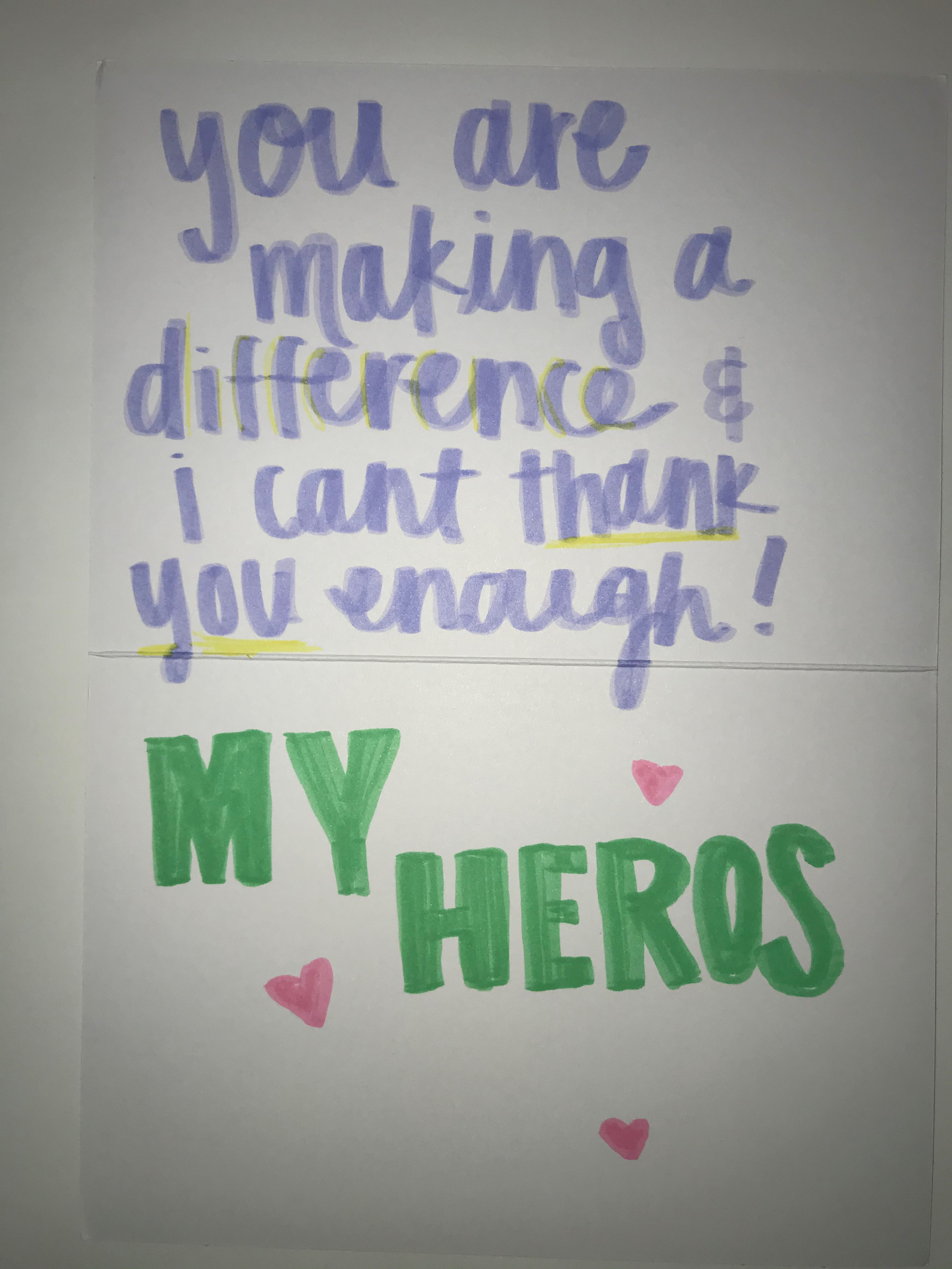 You are making a difference and I can't thank you enough! My heroes.