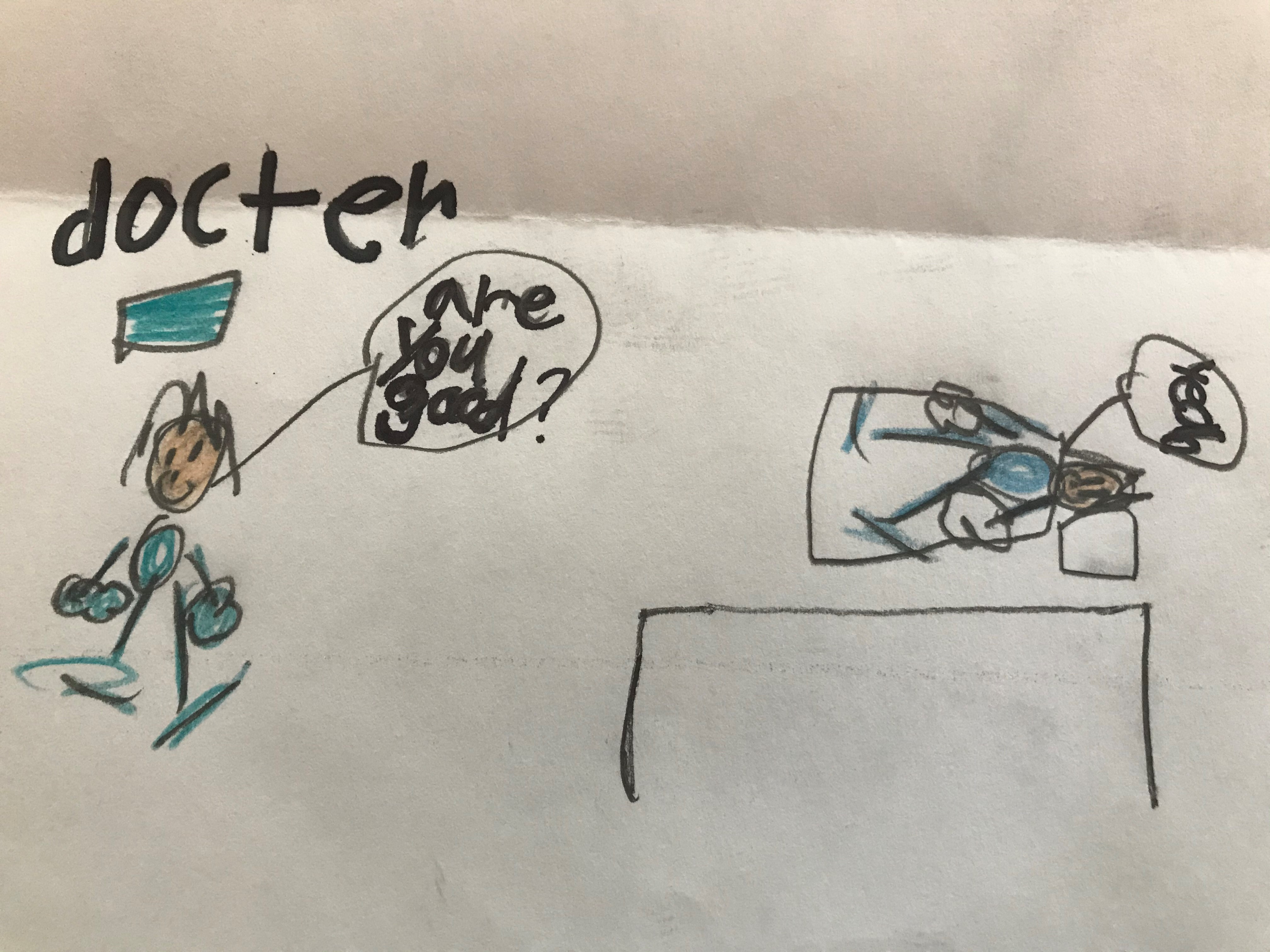Doctor and Patient Drawing